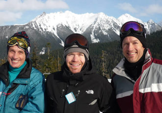 don danny and randy hooser skiing